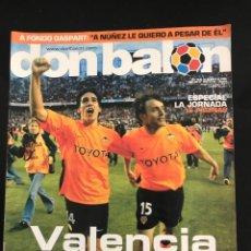 Coleccionismo deportivo: FÚTBOL DON BALÓN 1491 - VALENCIA CAMPEÓN LIGA - PÓSTER XAVI BARCELONA - BENFICA - MENDIETA. Lote 168251449