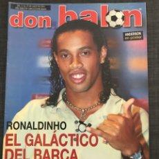 Coleccionismo deportivo: FÚTBOL DON BALÓN 1449 - RONALDINHO - PÓSTER ANDERSON - SIMEONE ATLÉTICO - MÁRQUEZ - BADALONA - DIEGO. Lote 168273521