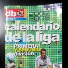 Coleccionismo deportivo: CALENDARIO DON BALON DB Nº 56 2007 2008 CELEBRACION LIGA REAL MADRID COPA REY SEVILLA CF. Lote 168337780