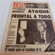 Collectionnisme sportif: AS(28-1-91)CASTELLÓN 0 R.MADRID 3,BARÇA 5 ESPAÑOL 2,BECKER(TENIS)RAMÓN MENDOZA. Lote 168417948