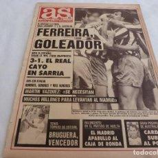 Collectionnisme sportif: AS(8-4-91)ESPAÑOL 3 R.MADRID 1,AT.MADRID 3 CASTELLÓN 1,DIEGO MARADONA CON PROBLEMAS. Lote 168423460