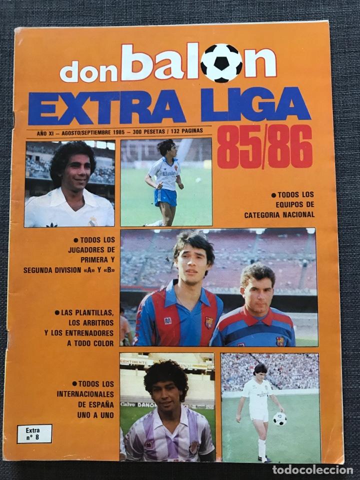FÚTBOL DON BALÓN EXTRA LIGA NÚMERO 8 TEMPORADA 85-86 - AS MARCA SPORT MUNDO DEPORTIVO PÓSTER CROMO (Coleccionismo Deportivo - Revistas y Periódicos - Don Balón)