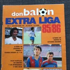 Coleccionismo deportivo: FÚTBOL DON BALÓN EXTRA LIGA NÚMERO 8 TEMPORADA 85-86 - AS MARCA SPORT MUNDO DEPORTIVO PÓSTER CROMO. Lote 168477280
