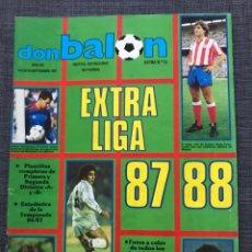 Coleccionismo deportivo: FÚTBOL DON BALÓN EXTRA LIGA NÚMERO 12 TEMPORADA 87-88 - AS MARCA SPORT MUNDO DEPORTIVO POSTER CROMO. Lote 168480385