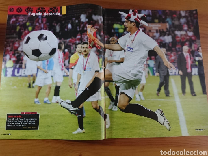 Coleccionismo deportivo: EXTRA DON BALÓN N°84 SEVILLA CAMPEÓN UEFA CUP LEAGUE 05-06 - Foto 2 - 168835636