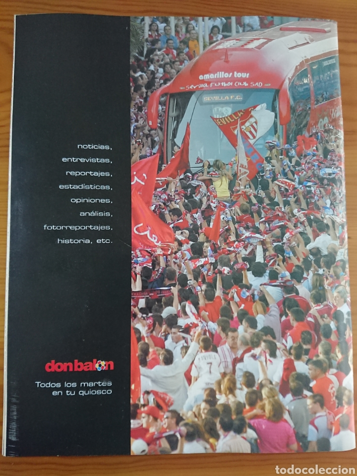 Coleccionismo deportivo: EXTRA DON BALÓN N°84 SEVILLA CAMPEÓN UEFA CUP LEAGUE 05-06 - Foto 8 - 168835636