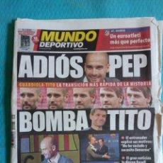 Coleccionismo deportivo: PEP GUARDIOLA ADIÓS MUNDO DEPORTIVO 28 ABRIL 2012. Lote 169277997