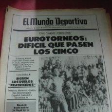 Coleccionismo deportivo: EL MUNDO DEPORTIVO Nº 19836. EUROTORNEOS: BARÇA-FLAMURTARI, ZARAGOZA-ROMA.... 1 OCTUBRE 1986. Lote 205807171