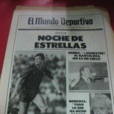 Collezionismo sportivo: EL MUNDO DEPORTIVO Nº 19794. GAMPER: NOCHE DE ESTRELLAS. NUÑEZ/SCHUSTER. 20 AGOSTO 1986 . Lote 169283404