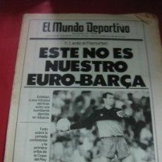 Coleccionismo deportivo: EL MUNDO DEPORTIVO Nº 19823. EURO-BARÇA: 1-1 ANTE EL FLAMURTARI. BECKER, VILAS. 18 SEPTIEMBRE 1986.. Lote 205807251