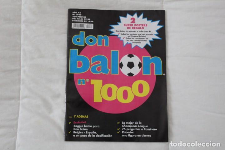 REVISTA DON BALÓN. Nº 1000 AÑO 1994 (Coleccionismo Deportivo - Revistas y Periódicos - Don Balón)