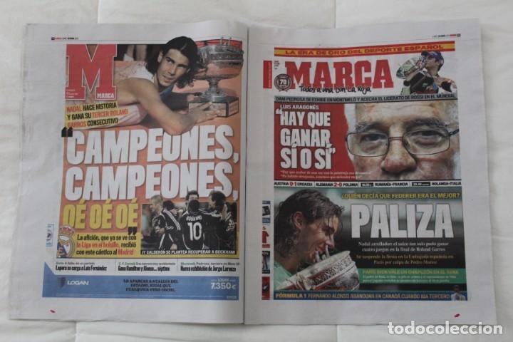 Coleccionismo deportivo: LOTE DIARIO MARCA RAFA NADAL LEYENDA ESPECIALES ROLAND GARROS DOCE Y TRECE.TENIS. - Foto 5 - 169311960