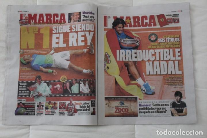 Coleccionismo deportivo: LOTE DIARIO MARCA RAFA NADAL LEYENDA ESPECIALES ROLAND GARROS DOCE Y TRECE.TENIS. - Foto 6 - 169311960