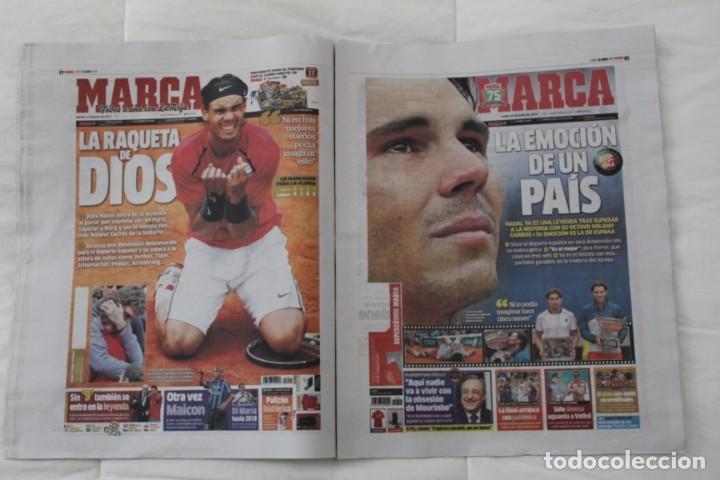 Coleccionismo deportivo: LOTE DIARIO MARCA RAFA NADAL LEYENDA ESPECIALES ROLAND GARROS DOCE Y TRECE.TENIS. - Foto 7 - 169311960
