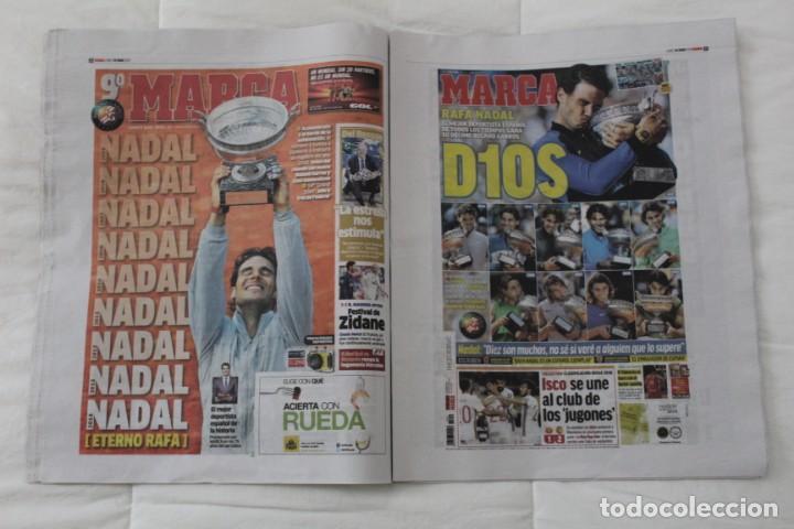 Coleccionismo deportivo: LOTE DIARIO MARCA RAFA NADAL LEYENDA ESPECIALES ROLAND GARROS DOCE Y TRECE.TENIS. - Foto 8 - 169311960