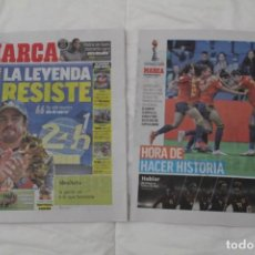 Coleccionismo deportivo: DIARIO MARCA 17/06/2019 LA LEYENDA RESISTE. FERNANDO ALONSO GANA SU SEGUNDO 24 HORAS DE LEMANS. Lote 169321328