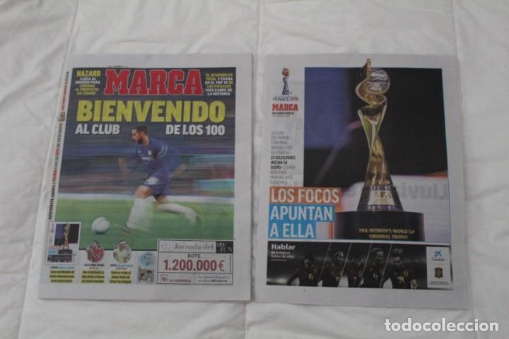 DIARIO MARCA 07/06/2019 BIENVENIDO AL CLUB DE LOS CIEN. HAZARD FICHA POR EL REAL MADRID (Coleccionismo Deportivo - Revistas y Periódicos - Marca)