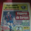Coleccionismo deportivo: SPORT Nº 2481. JULIO ALBERTO, RECUPERADO. L'EQUIPE APUESTA POR BARCELONA-92. 30 SEPTIEMBRE 1986. Lote 169337024