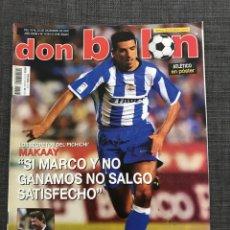 Coleccionismo deportivo: FÚTBOL DON BALÓN 1418 - PÓSTER ATLÉTICO - DEPORTIVO - BARÇA - ESPANYOL - LAZIO - COPAS EUROPEAS. Lote 169445649