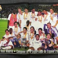 Coleccionismo deportivo: FÚTBOL DON BALÓN 1350 - PÓSTER MADRID CAMPEÓN SUPERCOPA - GUARDIOLA BARÇA - XAVI - ÁLBUM CROMO. Lote 169687061
