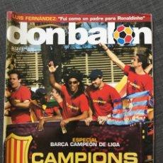 Coleccionismo deportivo: FÚTBOL DON BALÓN 1544 - ESPECIAL Y PÓSTER BARCELONA CAMPEÓN LIGA - RACING - SEVILLA FEMENINO. Lote 169747225