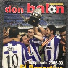 Coleccionismo deportivo: FÚTBOL DON BALÓN 1402 - DEPORTIVO CAMPEÓN SUPERCOPA - RACING - PÓSTER MENDIETA - VALENCIA ESPAÑA. Lote 169787268