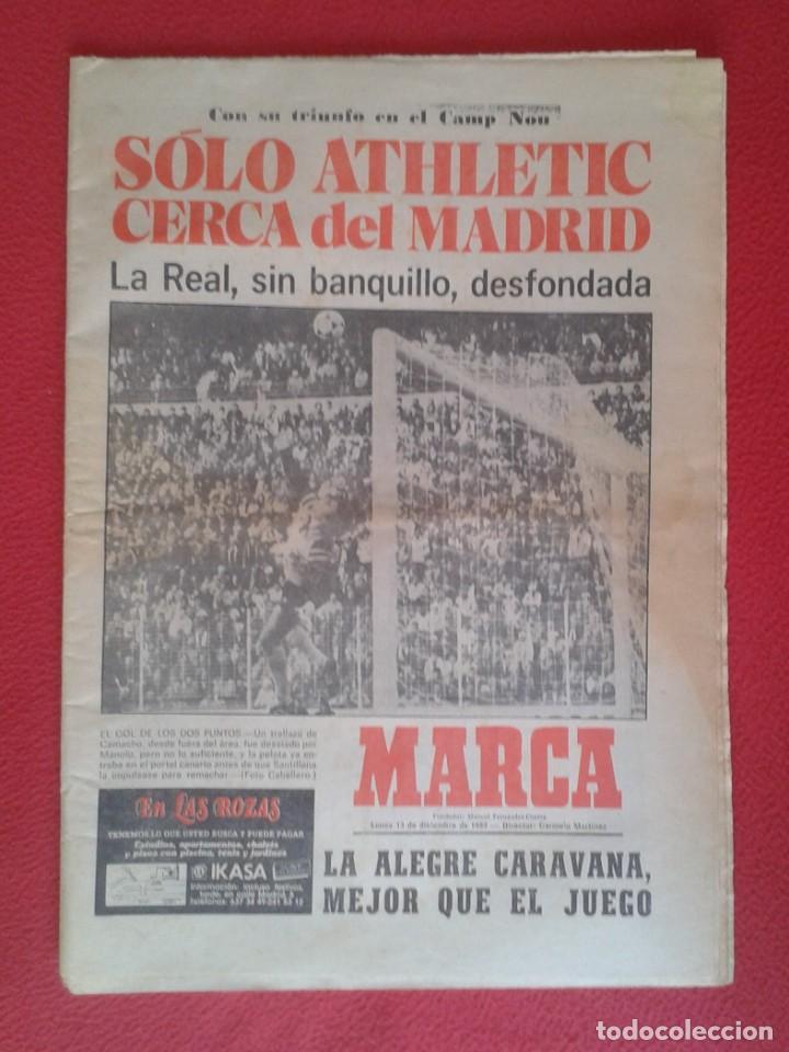 DIARIO MARCA Nº 12.734 DE 13 DICIEMBRE 1982 FÚTBOL CLUB BARCELONA REAL MADRID BILBAO...ACORRALADO... (Coleccionismo Deportivo - Revistas y Periódicos - Marca)