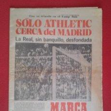 Coleccionismo deportivo: DIARIO MARCA Nº 12.734 DE 13 DICIEMBRE 1982 FÚTBOL CLUB BARCELONA REAL MADRID BILBAO...ACORRALADO.... Lote 169808584