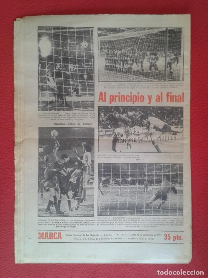 Coleccionismo deportivo: DIARIO MARCA Nº 12.734 DE 13 DICIEMBRE 1982 FÚTBOL CLUB BARCELONA REAL MADRID BILBAO...ACORRALADO... - Foto 2 - 169808584
