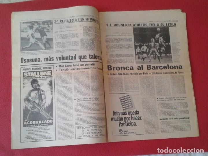 Coleccionismo deportivo: DIARIO MARCA Nº 12.734 DE 13 DICIEMBRE 1982 FÚTBOL CLUB BARCELONA REAL MADRID BILBAO...ACORRALADO... - Foto 8 - 169808584