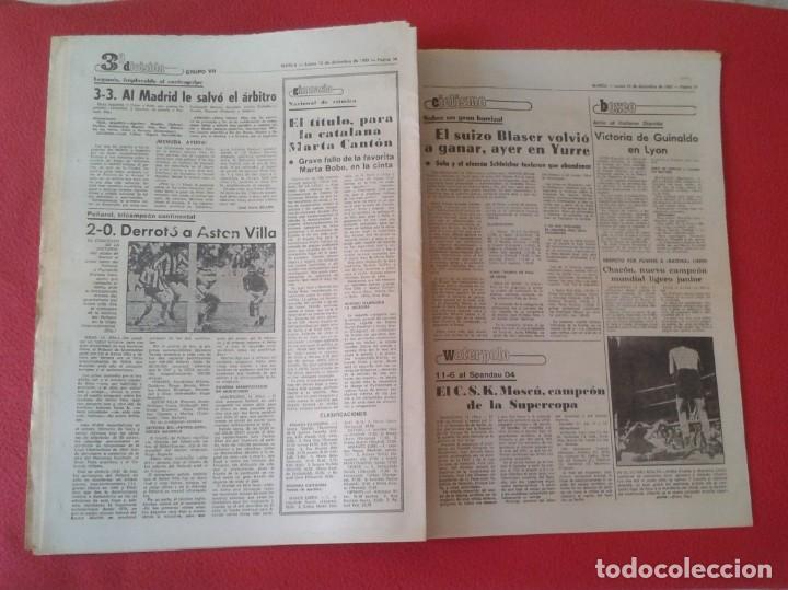 Coleccionismo deportivo: DIARIO MARCA Nº 12.734 DE 13 DICIEMBRE 1982 FÚTBOL CLUB BARCELONA REAL MADRID BILBAO...ACORRALADO... - Foto 11 - 169808584