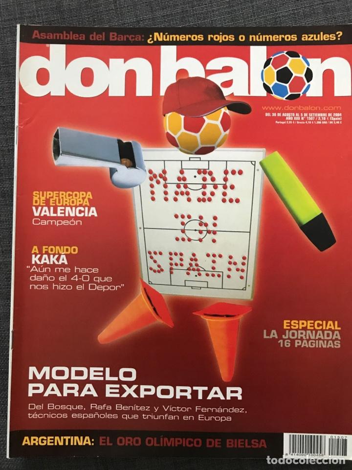 Coleccionismo deportivo: Fútbol don balón 1507 - Póster Zidane - Kaká - Zaragoza y Valencia Campeón Supercopa - Argentina - Foto 4 - 169816338