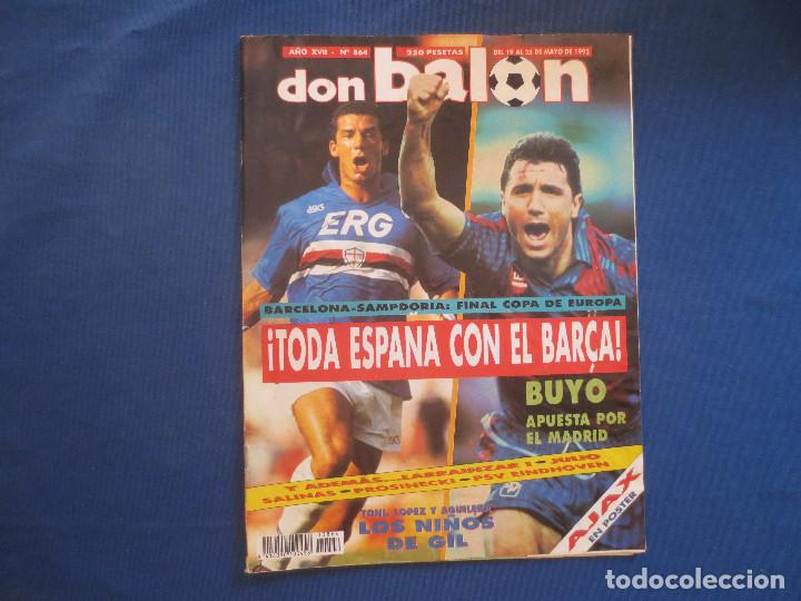 DON BALÓN N.º 864 AÑO XVII MAYO 1992 (Coleccionismo Deportivo - Revistas y Periódicos - Don Balón)