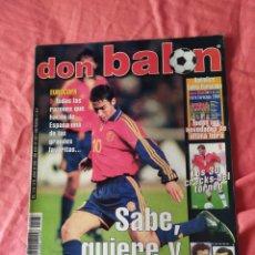 Coleccionismo deportivo: DON BALON NÚMERO 1287 OSASUNA,ZIDANE APENDICE EUROCOPA 2000. Lote 170010269