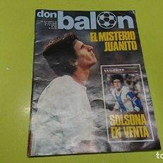 Coleccionismo deportivo: REVISTA DON BALÓN, N° 120, 1978, CON POSTER. Lote 170157232