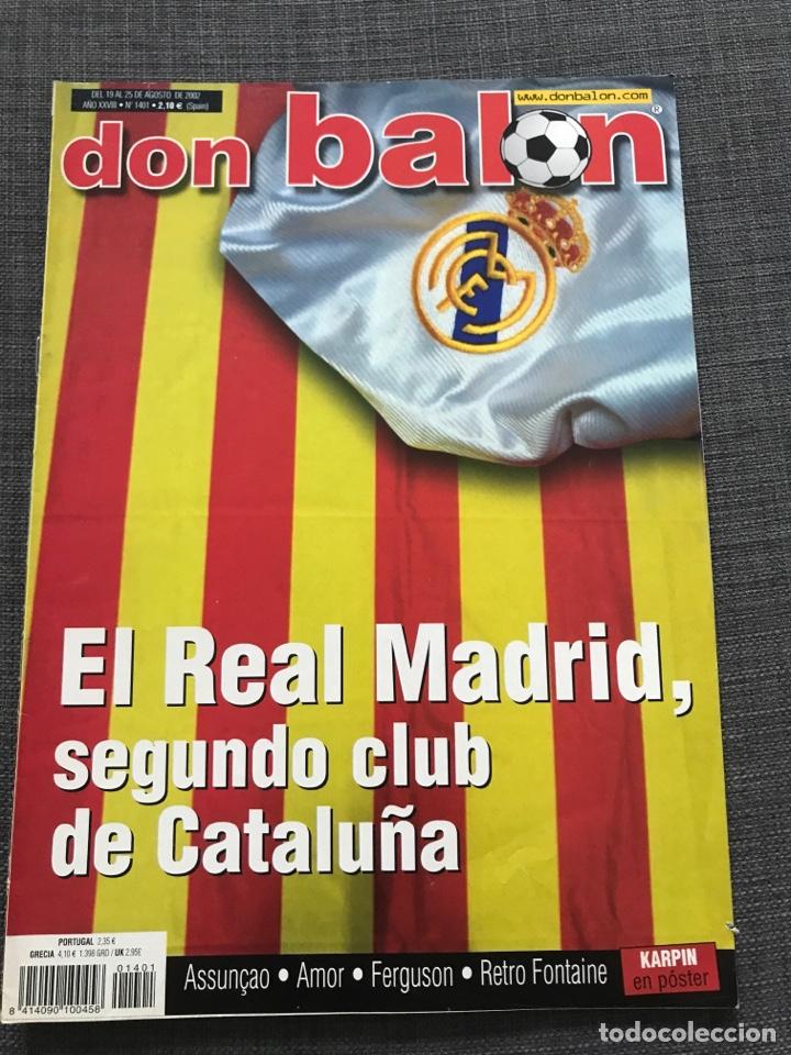 FÚTBOL DON BALÓN 1401 - REAL MADRID - AMOR - FONTAINE - FERGUSON - ESPAÑA SUPERCOPA DEPORTIVO (Coleccionismo Deportivo - Revistas y Periódicos - Don Balón)