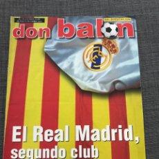 Coleccionismo deportivo: FÚTBOL DON BALÓN 1401 - REAL MADRID - AMOR - FONTAINE - FERGUSON - ESPAÑA SUPERCOPA DEPORTIVO. Lote 170205566