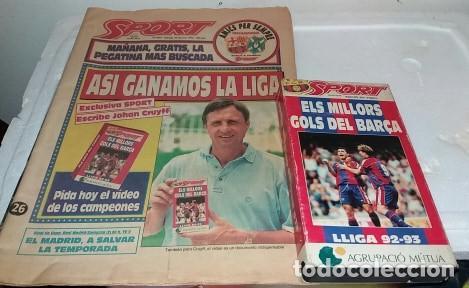 DIARIO SPORT BARCA CAMPEON DE LA LIGA 1993 CON SU VHS (Coleccionismo Deportivo - Revistas y Periódicos - Sport)