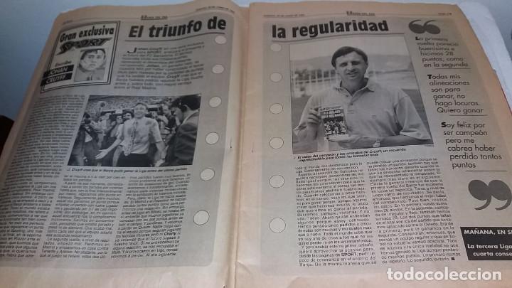 Coleccionismo deportivo: DIARIO SPORT BARCA CAMPEON DE LA LIGA 1993 CON SU VHS - Foto 2 - 170212240