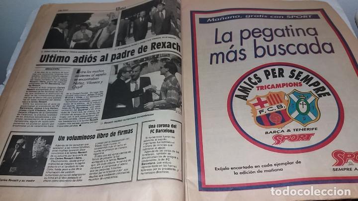 Coleccionismo deportivo: DIARIO SPORT BARCA CAMPEON DE LA LIGA 1993 CON SU VHS - Foto 3 - 170212240