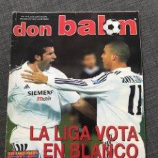 Coleccionismo deportivo: FÚTBOL DON BALÓN 1444 - REAL MADRID - LAPORTA - ORTI VALENCIA - FIGO - REYES - COPA DEL REY - ESPAÑS. Lote 170292018