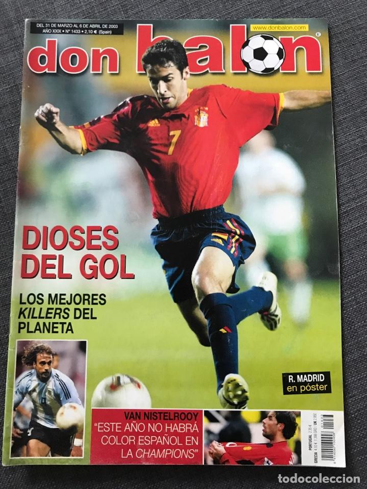 FÚTBOL DON BALÓN 1433 - DIOSES DEL GOL - ESPAÑA - VAN NISTELROOY - RECREATIVO (Coleccionismo Deportivo - Revistas y Periódicos - Don Balón)