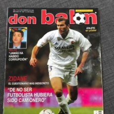 Coleccionismo deportivo: FÚTBOL DON BALÓN 1427 - ZIDANE - REAL SOCIEDAD - MUNITIS - ZANETTI - BIANCHI. Lote 170294934