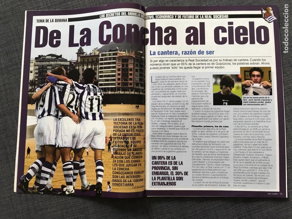 Coleccionismo deportivo: Fútbol don balón 1427 - Zidane - Real Sociedad - Munitis - Zanetti - Bianchi - Foto 3 - 170294934