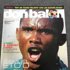 Coleccionismo deportivo: FÚTBOL DON BALÓN 1504 - ETO'O - TROFEO CARRANZA - QUIQUE SANCHEZ FLORES - ARTETA. Lote 170295496