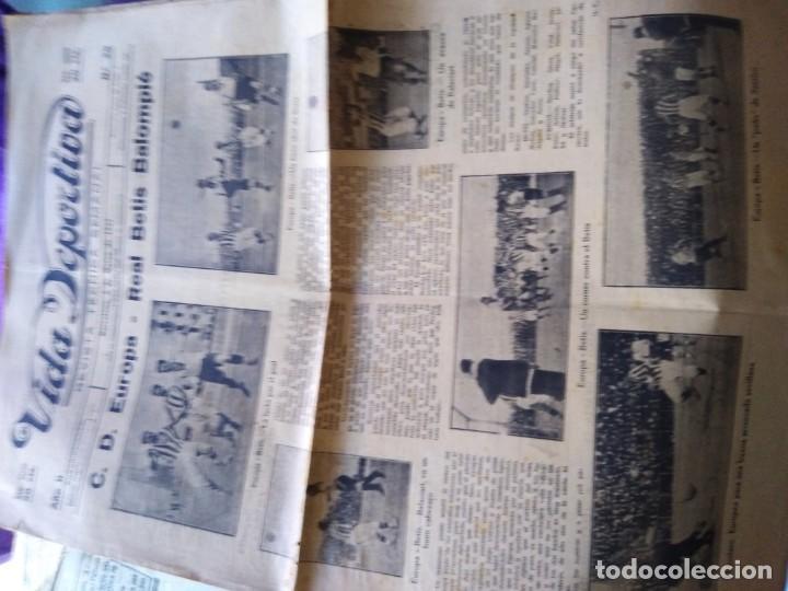Coleccionismo deportivo: VIDA DEPORTIVA 1922 N 25 C. D. EUROPA REAL BETIS BALOMPIE ESPAÑA MARTINENC - Foto 2 - 170425184