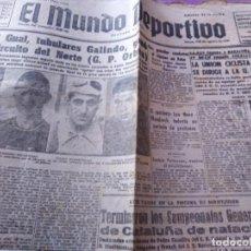 Coleccionismo deportivo: EL MUNDO DEPORTIVO EDICION DE LA NOCHE MIGUEL GUAL TUBULARES GALINDO V CIRCUITO DEL NORTE. Lote 170425580