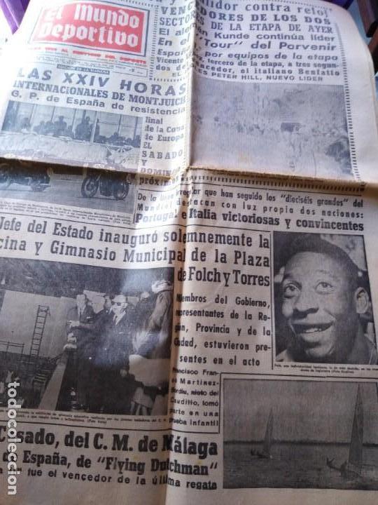 EL MUNDO DEPORTIVO 1966 DE ROO EN LINEA Y POULIDOR CONTRA RELOJ CICLISMO MIERCOLES 6 JULIO 1966 (Coleccionismo Deportivo - Revistas y Periódicos - Mundo Deportivo)