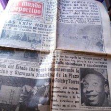 Coleccionismo deportivo: EL MUNDO DEPORTIVO 1966 DE ROO EN LINEA Y POULIDOR CONTRA RELOJ CICLISMO MIERCOLES 6 JULIO 1966. Lote 170426012