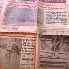 Coleccionismo deportivo: EL MUNDO DEPORTIVO 12 JUNIO DE 1966 CICLISMO R. POULIDOR ARREBATO A ECHEVARRIA . Lote 170426492